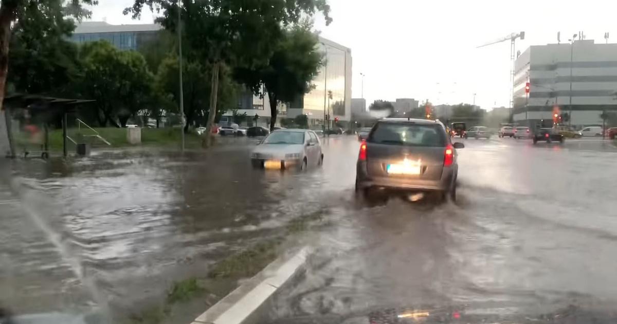Egy óra alatt esett egy hónapnyi eső Belgrádban