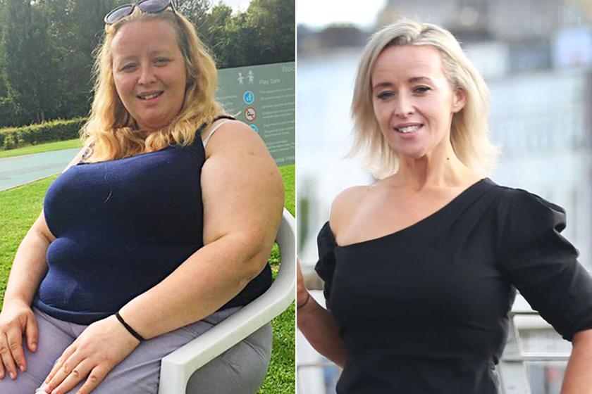 90 font fogyás előtt és után