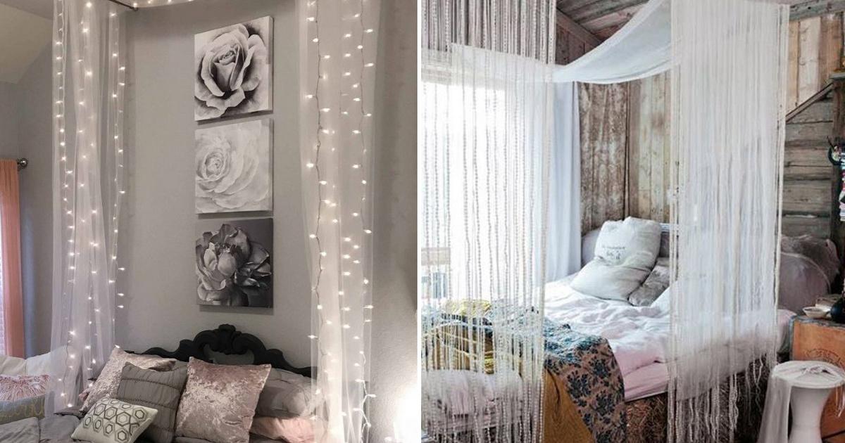 8 álomszép baldachin az ágy fölé saját kezűleg: nem kell hozzá kézügyesség