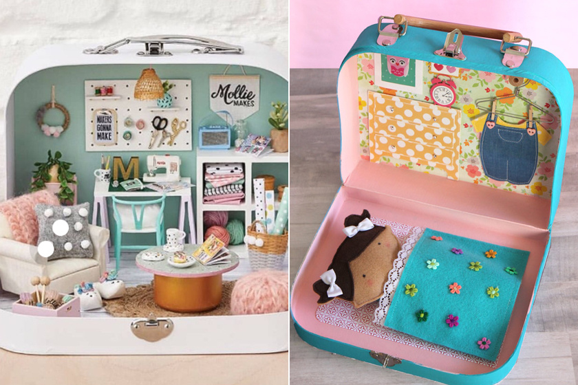 Így készíts gyönyörű babaházat fillérekből: csupán egy régi bőrönd kell hozzá