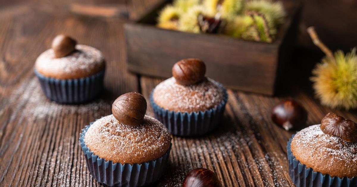 Rumos, gesztenyés muffin: masszából villámgyorsan elkészül