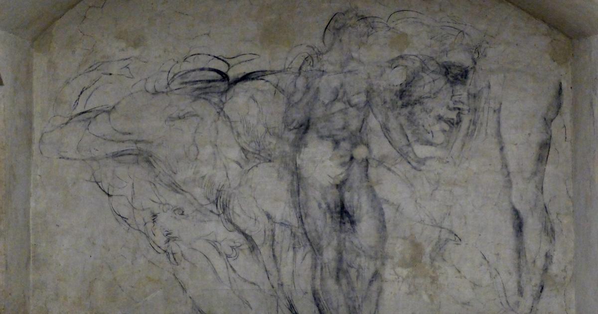 Arrébb tolták a szekrényt, és egy titkos ajtóra leltek: Michelangelo egykori rejtekhelyére vitt, rajzokkal a falon