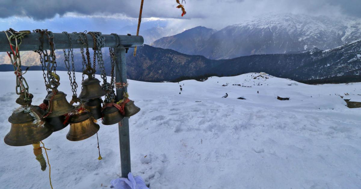 A hindu templom, ami minden télen eltűnik az emberek szeme elől: Tungnath szentélyét teljesen ellepi a hó