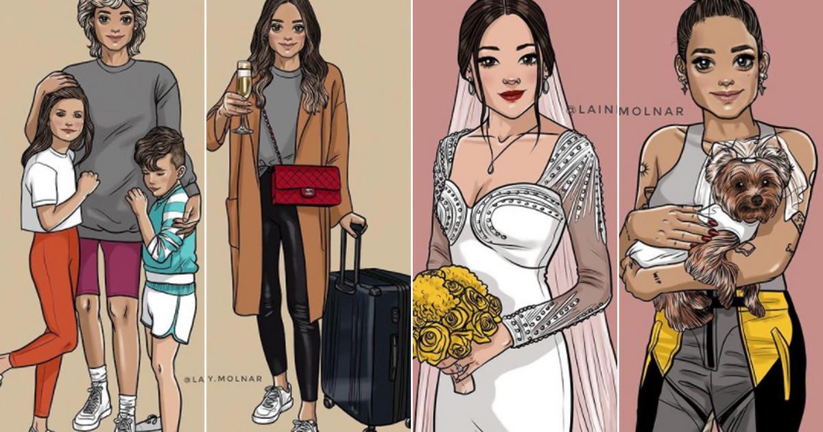 Milyen nőnek lenni 2020-ban? A 31 éves magyar művész rajzai nem a társadalmi elvárásoknak akarnak megfelelni