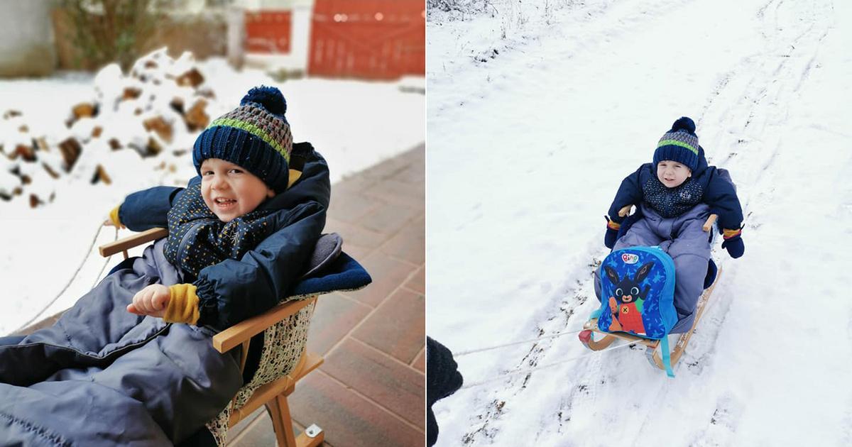 Egy éve az egész ország összefogott az egészségéért: ma már vidáman játszik a hóban Zente