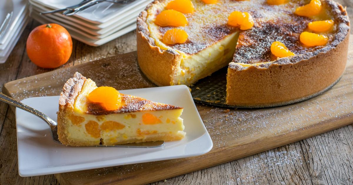 Krémes mandarinos túrótorta: gyönyörű remegős desszert