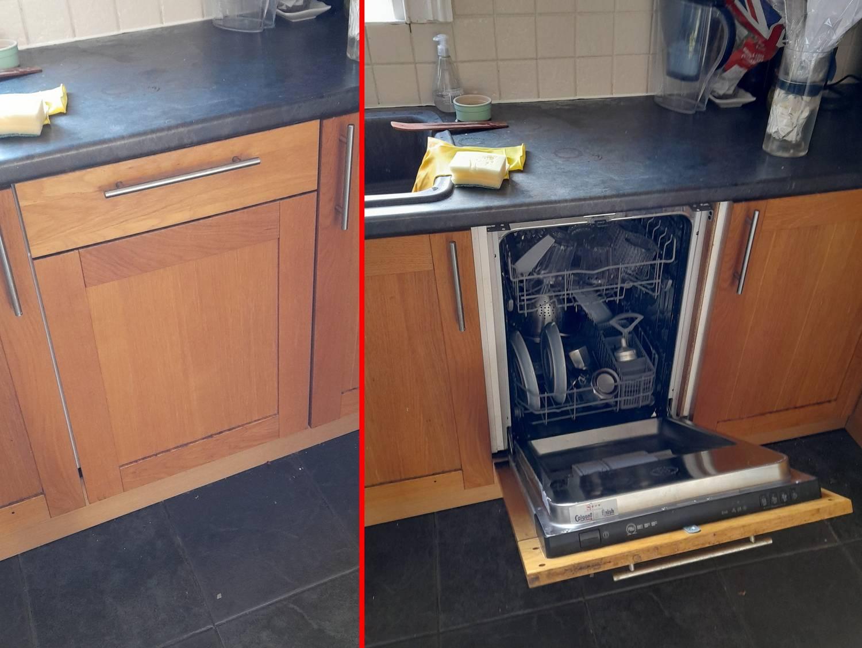 Egy brit férfinak 2 év után tűnt fel, hogy van a konyhájában mosogatógép