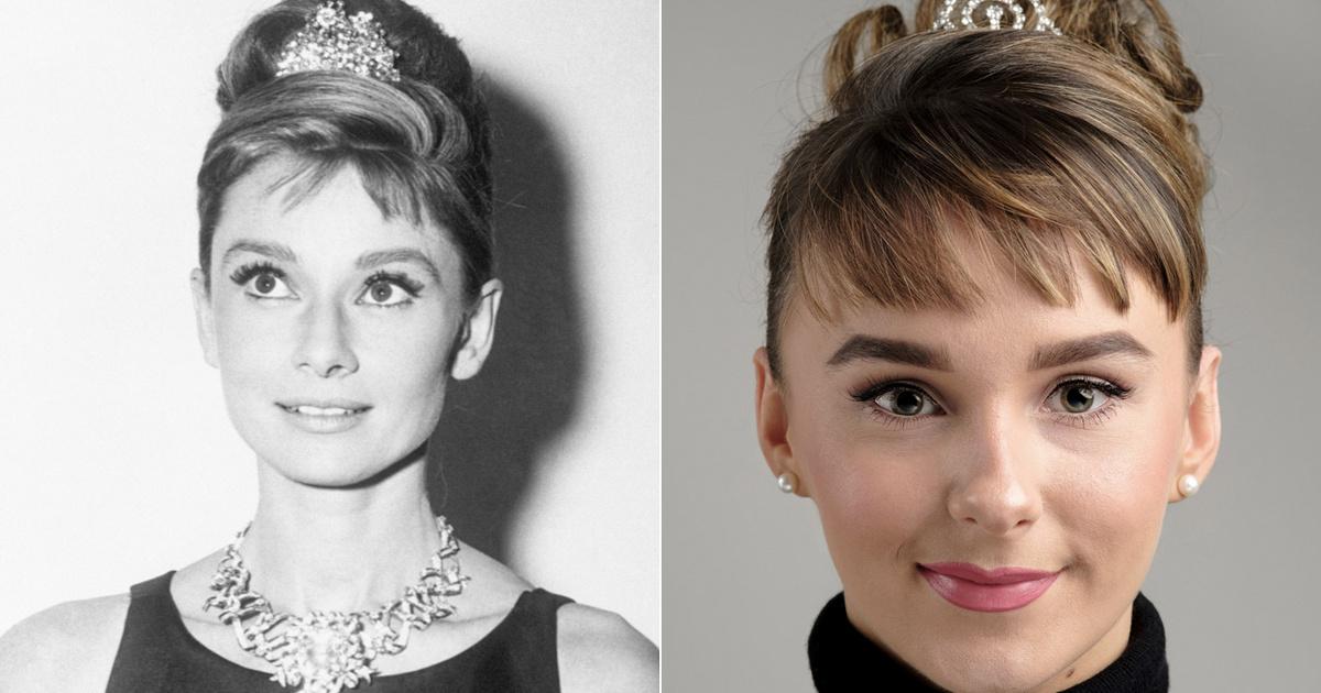 A 23 éves nőt Audrey Hepburn kiköpött másának tartják: hihetetlen a hasonlóság, mióta rövidebb frufrut hord Mia