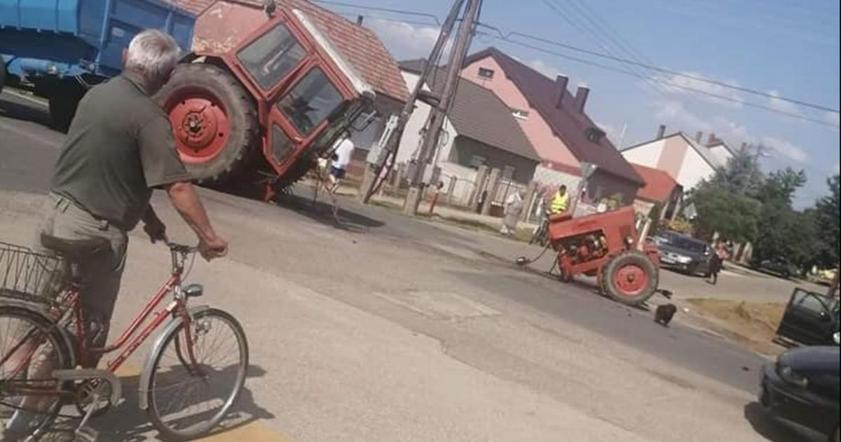 Kettészakadt egy traktor Kapuváron