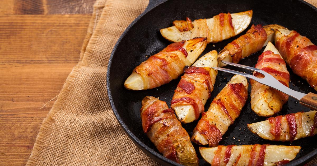 Baconben sült ropogós krumpli: tepsiben vagy grillen is megsütheted