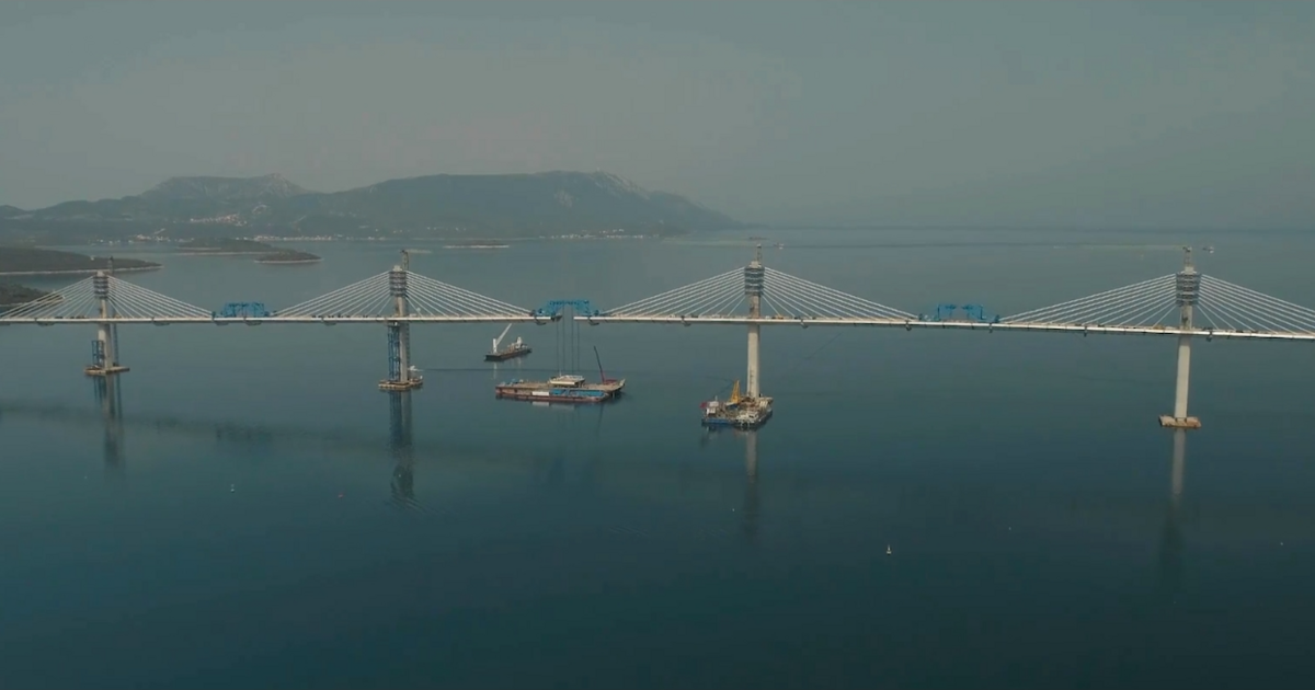 Elkészült a Horvátországot Horvátországgal összekötő híd