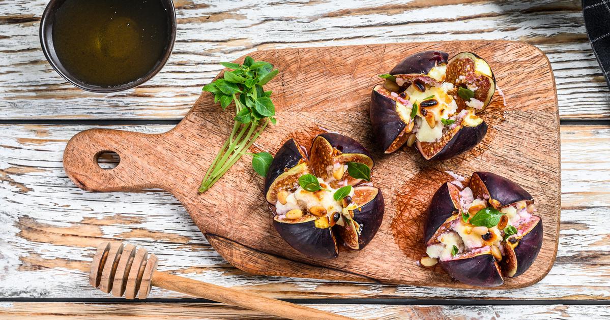 Gorgonzolával töltött sült füge: igazi ízorgia a sütőből