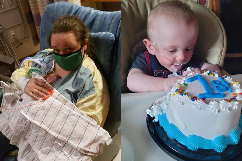 Az orvosok lemondtak a 340 grammal született babáról: most ünnepelte első születésnapját Richard