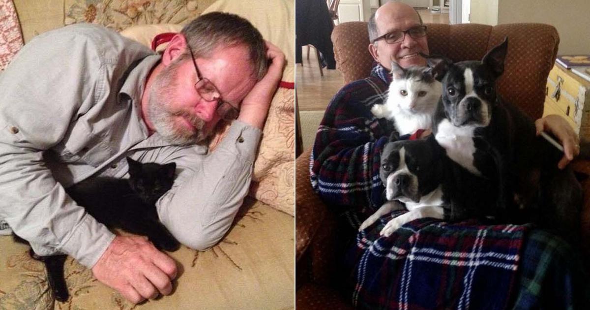 8 kedves fotó apukákról, akik soha nem akartak kisállatot: ma már a legjobb barátok