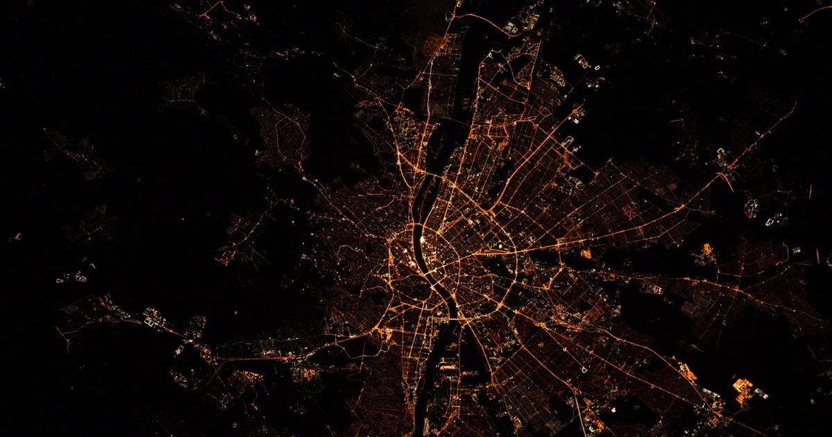 A NASA űrhajósa éjszakai fotót készített Budapestről