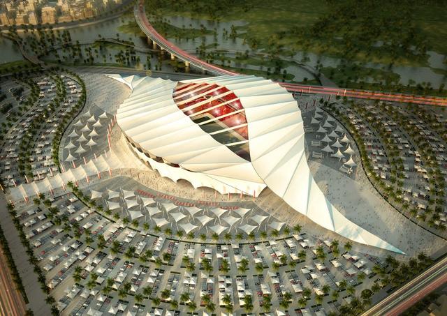 Az egyik katari stadion látványterve
