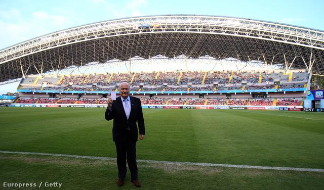 Joseph S. Blatter, a FIFA elnök a Estadio Nacional Stadionban
