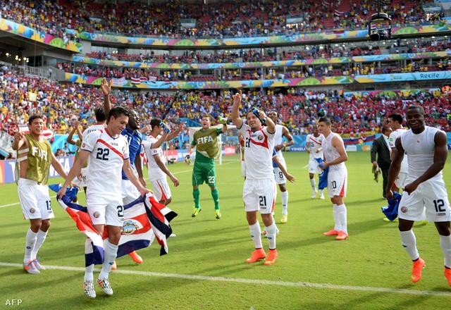 Costa Rica ünnepli az Olaszország elleni győzelmet