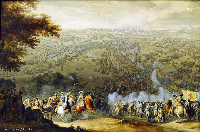 A poltavai csata Larmessin Nicolas festményén