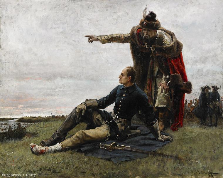 XII. Károly és Ivan Mazepa a poltavai csata után Cederstrm Gustaf festményén