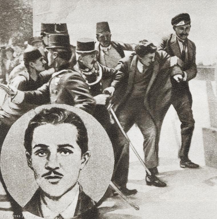 Gavrilo Princip letartóztatása