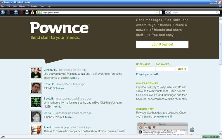 PownceWebPage