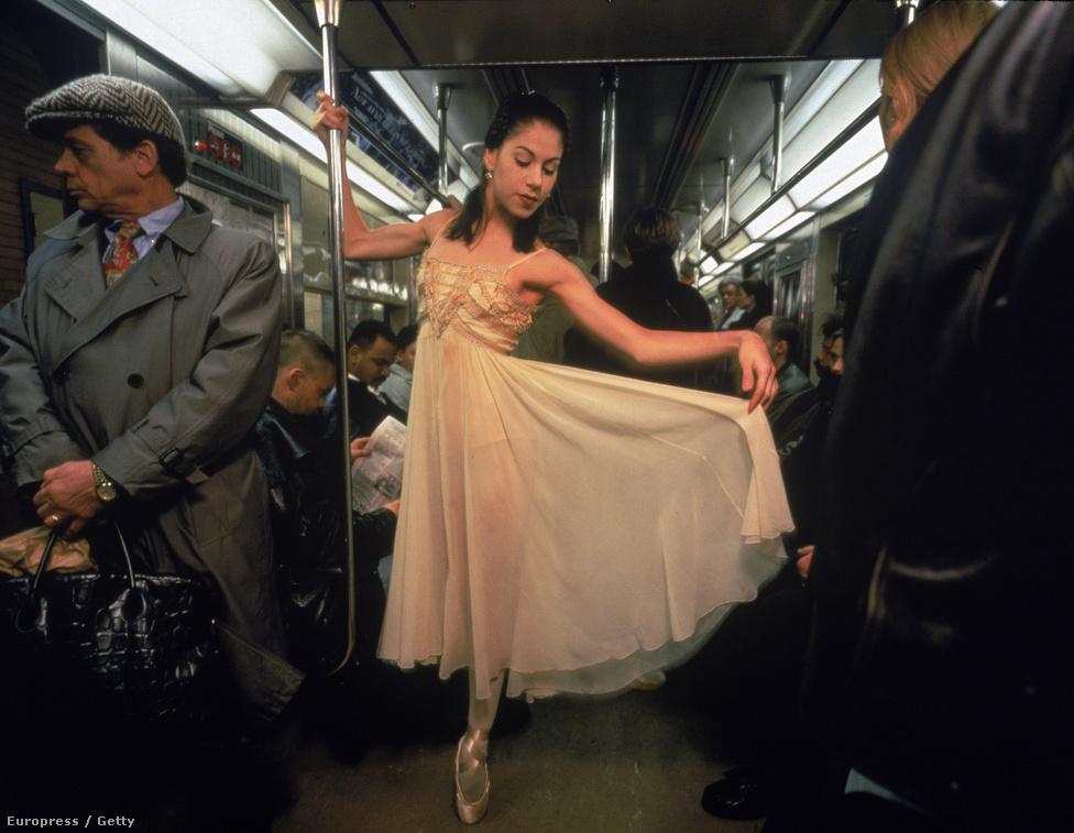 Paloma Herrera ezúttal a New York-i metróban.