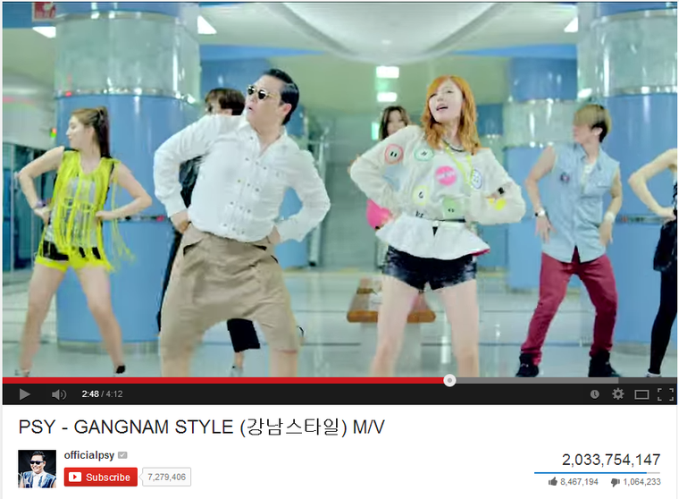 Psy állítólag 8 millió dollárt kaszált a YouTube-történelem legnézettebb videójával