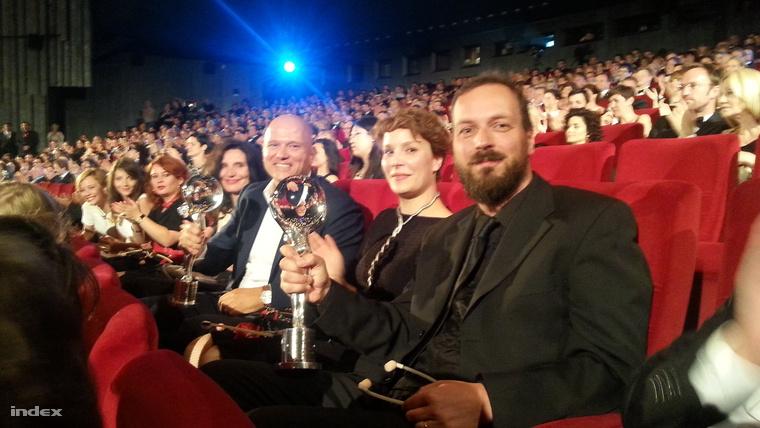 Pusztai Ferenc producer, Ruttkay Zsófia forgatókönyvíró és Pálfi György rendező