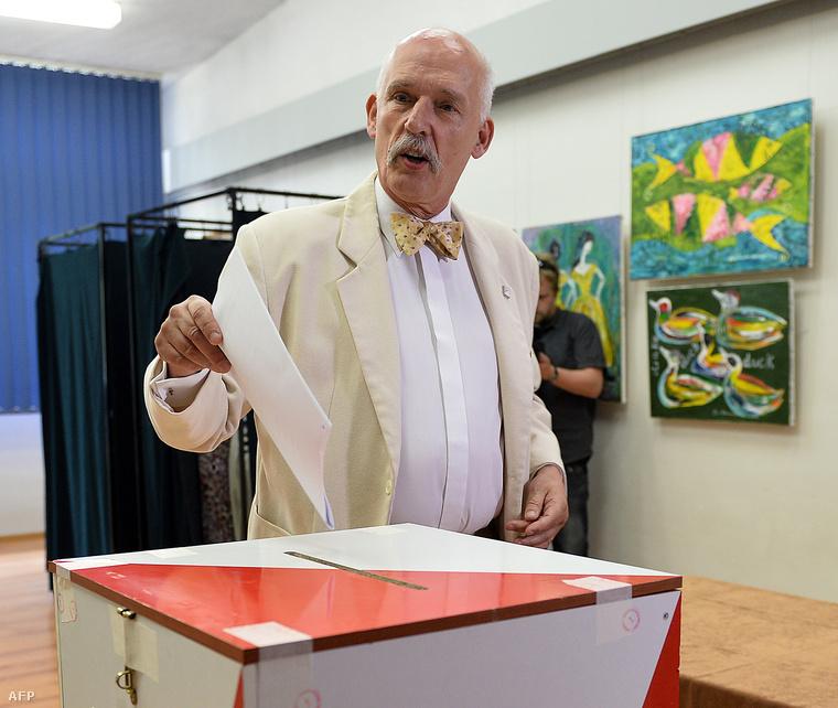 Janusz Korwin-Mikke, az Új Jobboldali Kongresszus (KNP) elnöke