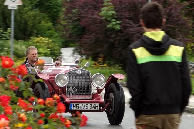 Egy gyári, 1931-es Le Mans-i Alfa