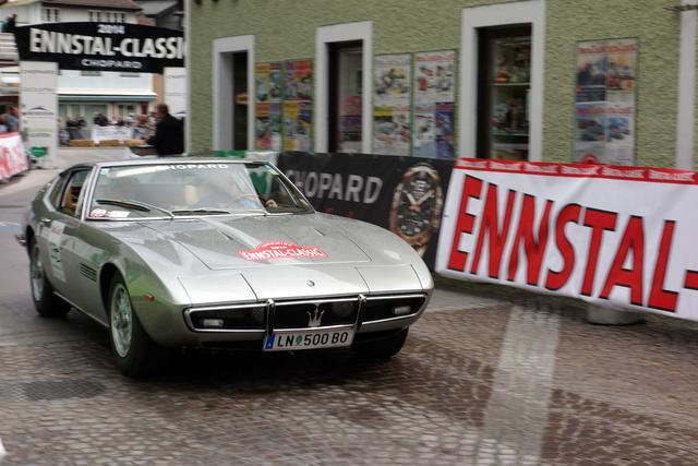 Maserati Ghibli, korának leggyorsabb szériaautója. 270-et tudott 1969-ben