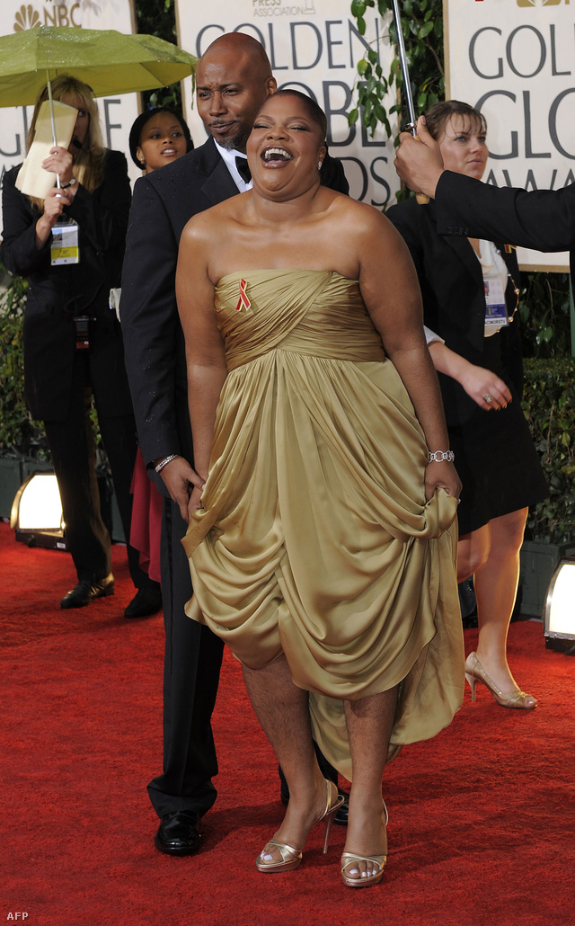 UNITED STATES, Beverly Hills : US Actress Mo'Nique arrives for the 67th Golden Globe Awards on January 17, 2010 in Beverly Hills, California. The Golden Globes is organized and chosen by members of the Hollywood Foreign Press Association (HFPA). AFP PHOTO / Timothy A. CLARY