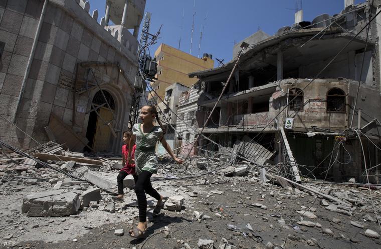 A szétbombázott Gáza város