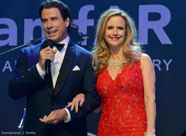 Travolta, és felesége, Kelly Preston