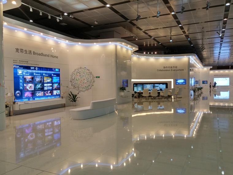 Olyan a Huawei bemutatóterme, mint egy űrhajó