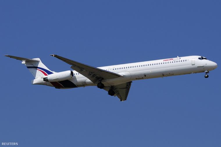 A Swiftair egyik MD-83 repülőgépe