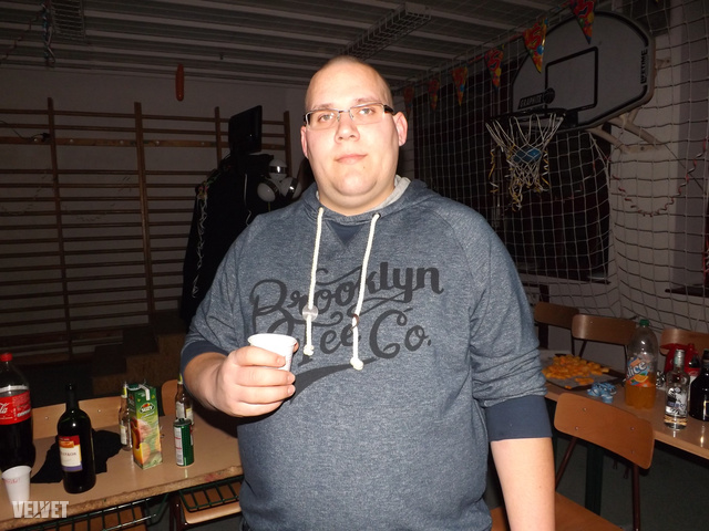 Ez egy januári kép, Dániel ekkor 143 kg volt