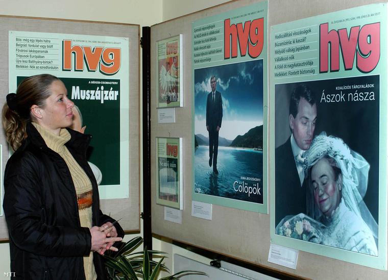 Plakátkiállítás HVG-s címlapokból (2005)