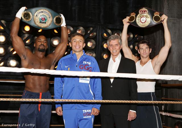 Terence Archie, a két bokszoló Gennady Golovkin és Michael Buffer, valamint Andy Karl