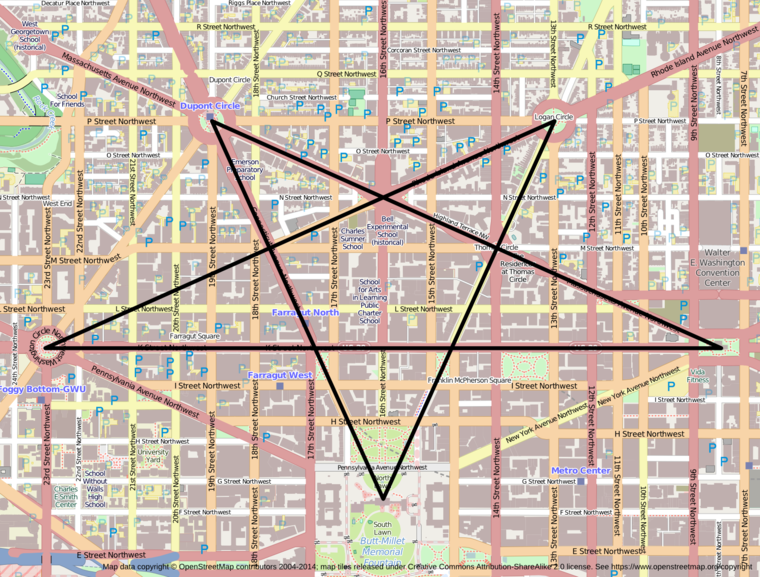 Pentagramma Washington utcáiból