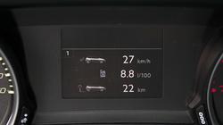 A Peugeot számítógépe ennyit mutatott a városi szakasz után. Ez volt majdnem a legtöbb.