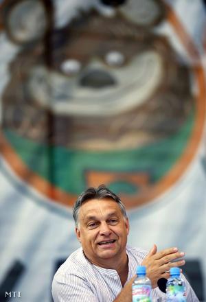Orbán Viktor a 25. Bálványosi Nyári Szabadegyetemen tartott előadásán.
