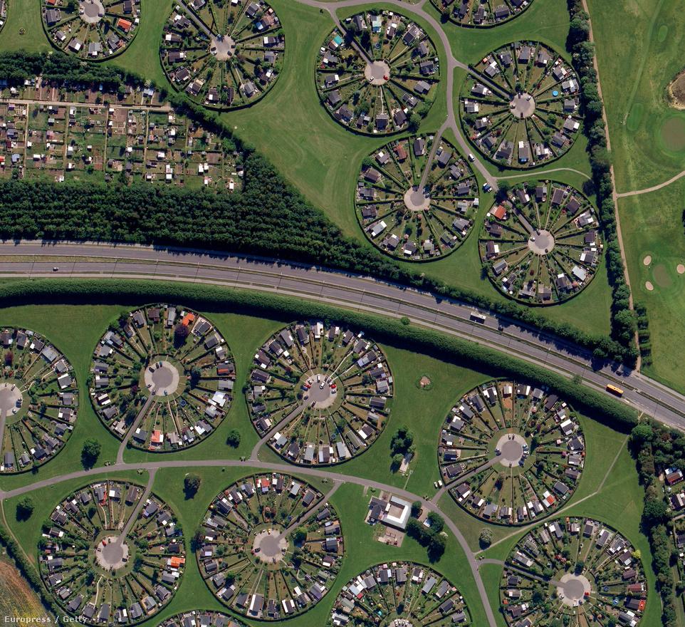 Lakókörök Dánia Bronby tartományában.