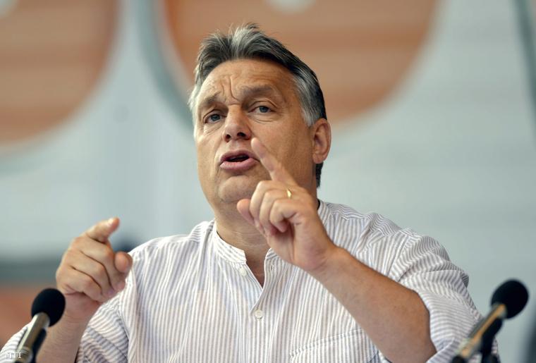 Orbán Viktor Tusnádfürdőn 2014. július 26-án