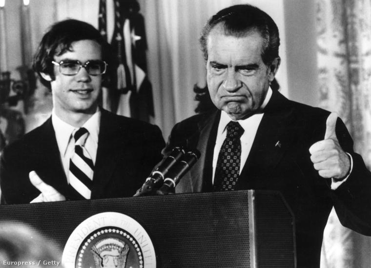 Nixon, miután bejelentette lemondását