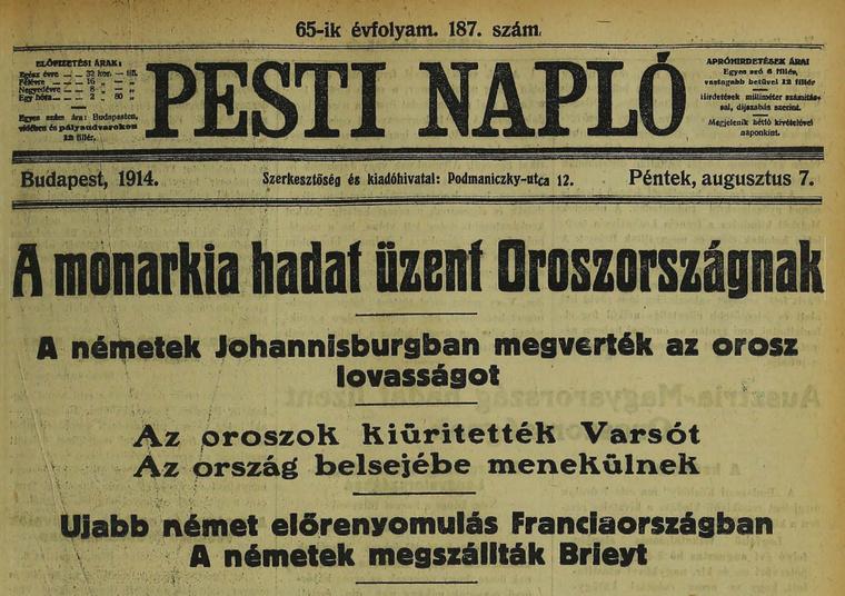 Olvasson bele a korakbeli újságokba az Arcanum archívumában - Kattintson a képre!