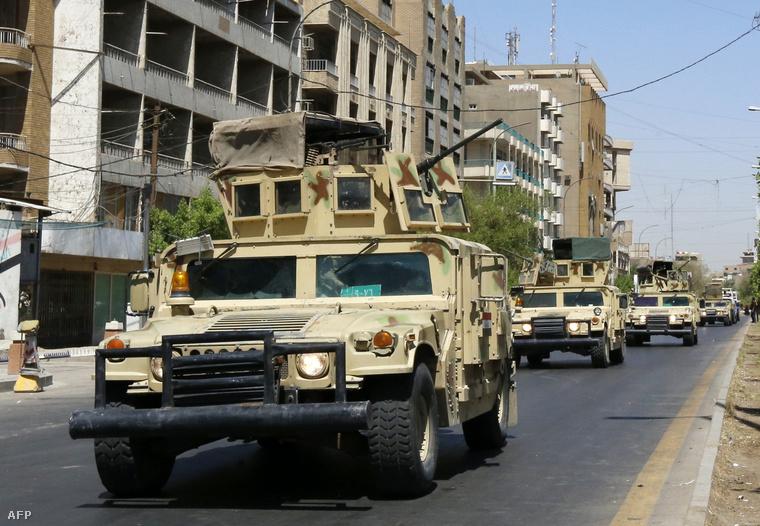 Katonai járművek jelentek meg Bagdad utcáin