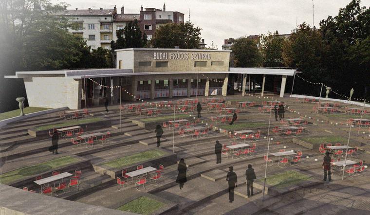Látványterv: városi találkozóhely az Erzsébet téri Fröccsterasz szellemiségében