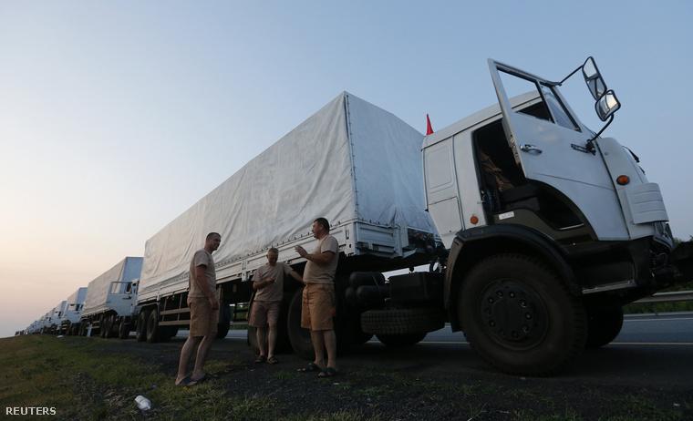 A hírhedt orosz segélykonvoly, még Oroszországban